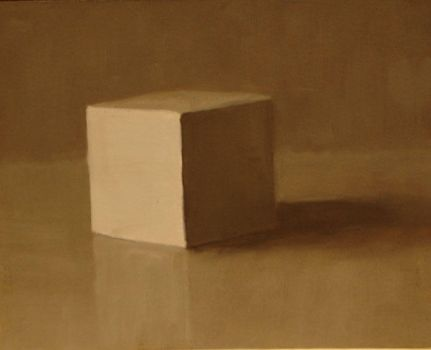 Cube in Raw Umber by yoursecretkeeper