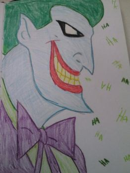Animated Joker Coloured Pencil by SilverEyedBeauty