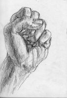 study of my left hand by MeckanicalMind