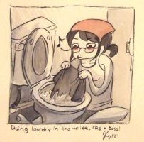 Doing Laundry, Like a Boss by purpleparrotfish
