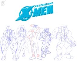 Astonishing X-men cover by Tureta
