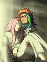 Rainbow Dash and the Colossus by HazuraSinner