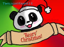 Beary Christmas Panda for Twi by iFerneh