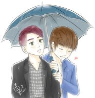 B.A.P 20 DaeJae in the rain by syewe-yoss