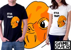 Shirt: Admiral Ackbar by GAME-OVER-CUSTOM