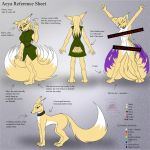 Commission: Aeya reference sheet by Snowfyre