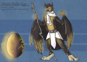 Mystic Ember Egg (Hatched Adoptable) by Ulario