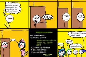 Stick dude comix 14 --- morning shower by TheGame22q