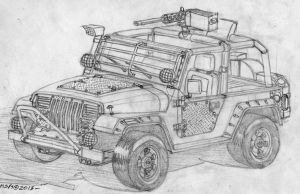 Post Apocalyptic Jeep Wrangler by RedSpider2008