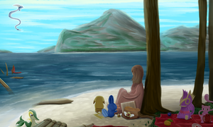 Summer Shore by Mewscaper