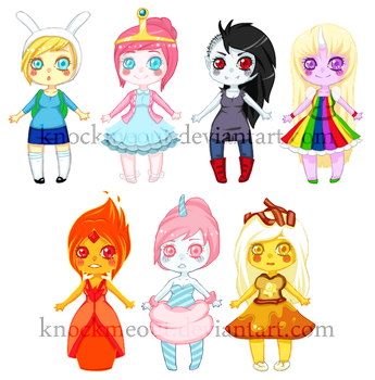 Adventure Time Chibis FOR SALE by KnockMeOut