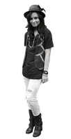 Demi Lovato png Blanco y negro by PilyEditions
