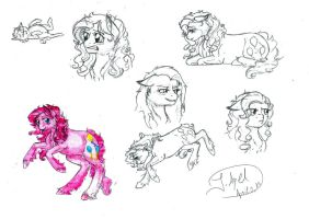 Sketchdump: Pinkie Pie by jessi-dragon-rider