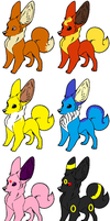 Eeveelution adoptables. FIRST ONE FREE!! by ShadowAndFrost