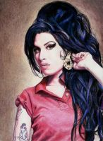 Amy Winehouse Portrait 2 by Pevansy