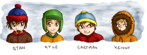 South Park Boys by kittychasesquirrels