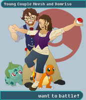 Nerdy Trainer Couple M+D by TehPickle
