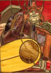 Galvatron Stained Glass by AutobotWonko