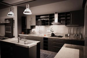 Black kitchen by rashadalawi