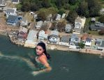 Barbara Palvin skinny dipping offshore by Maidenpool