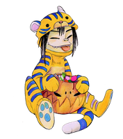 Halloween tiger by Psychoon