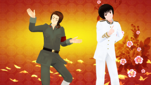 [MMD] China and Japan - 1, 2 Fanclub [Video] by PikaBlaze