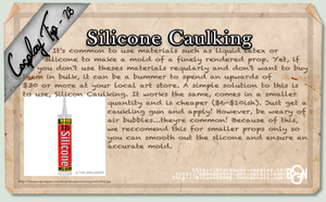 Cosplay Tip 28 - Silicone Caulking by Bllacksheep