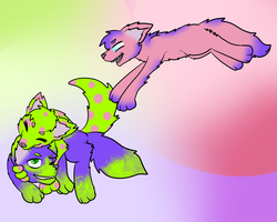 Three Playful Puppies by LastbutnotAlise