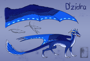 D'zidra reference sheet by Virensere