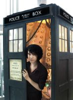Sherlock in the TARDIS by MoriNoYosei