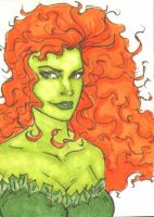 Poison Ivy Sketch Card by wheels9696