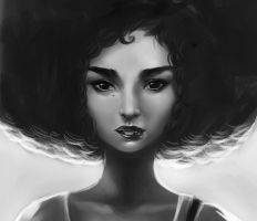 Afro Chick by BoFeng