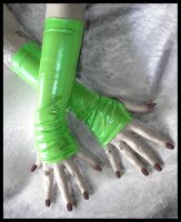 Toxic Cyber Slime Arm Warmers by ZenAndCoffee