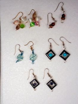 Beaded Earrings Group by hillarybewilson