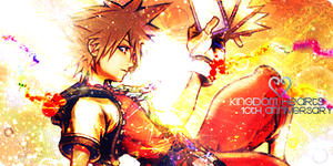 Sora KHCoM 10th Anniversary Tag by Ashesofdawn253