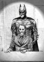 Batman interrogates Joker by MisiakasVasileios