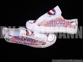 "Hello Kitty ""Katie"" Converse by realwann"