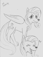 My Little Wolfies Fluttershy by Cane-McKeyton