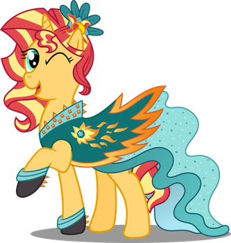 Pony Crystal Gala - Sunset Shimmer by icantunloveyou