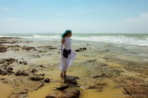 Michiru and the sea by Yukilefay