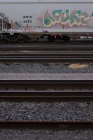 Train graffiti seen around St.Pt.,WI 7/6/2014 8:26 by Crigger