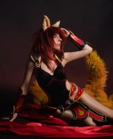 Foxfire Ahri by YurikoCosplay