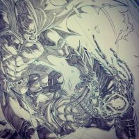 WIP Batman Vs. Predator (iG) by emmshin