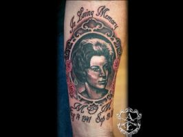 Vintage Portrait Tattoo done by Sean Ambrose by seanspoison