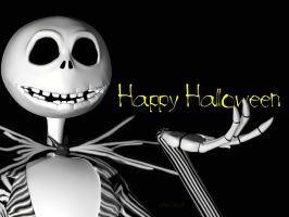 Skellington wallpaper by TheArtofChurchwell