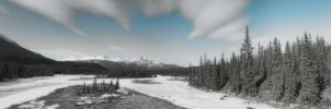 Athabasca River Panorama by skip2000