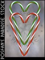 Candy Cane Heart 002 by poserfan-stock