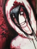 Jeff the killer watercolour #1 by DarkStar247