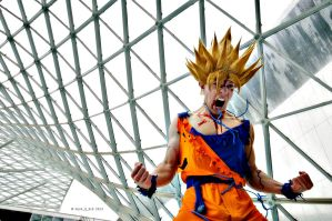 Goku cosplay Ssj2 battle damaged by Alexcloudsquall