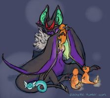 Proud Momma Noivern by blacktigerfox
